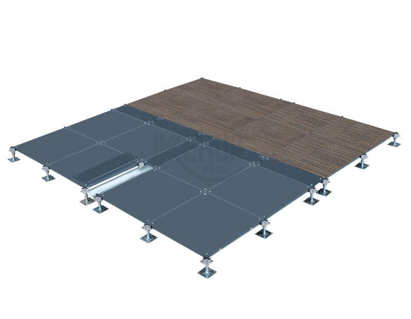 OA-500 bare finish steel net work raised access floor