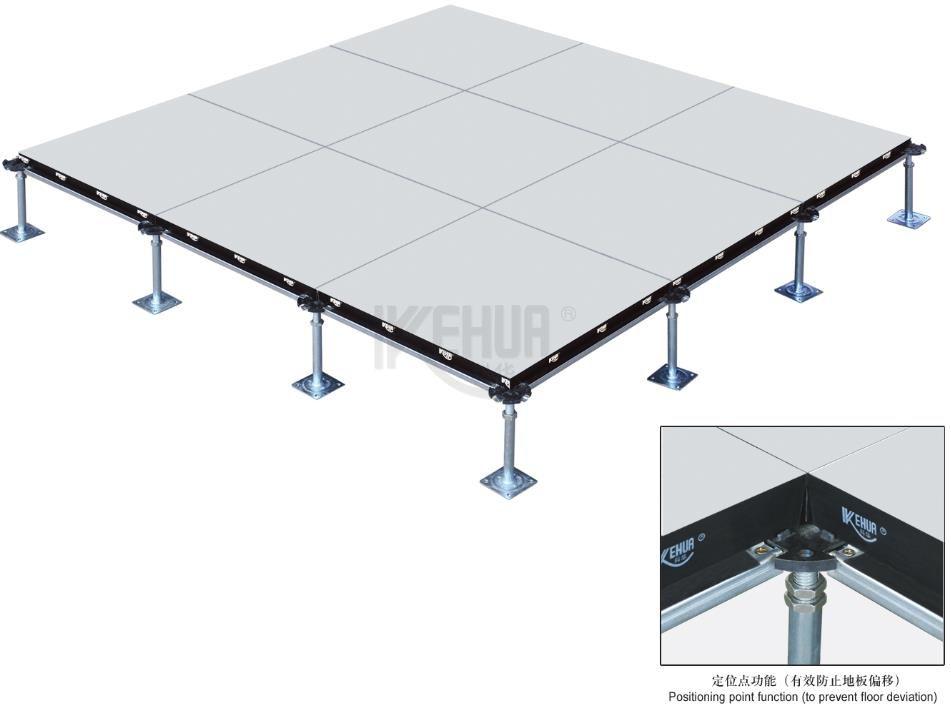 Wood core raised access floor panel with ceramic tile (HDMC)
